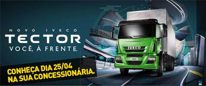 Anote na agenda: 25 de abril, você tem um compromisso com o Novo Iveco Tector.