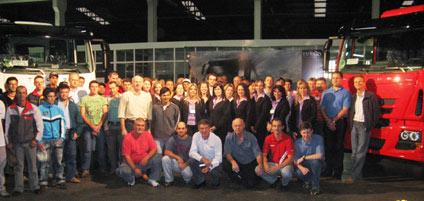 Equipe do DIA D da Carboni, de Videira, Santa Catarina