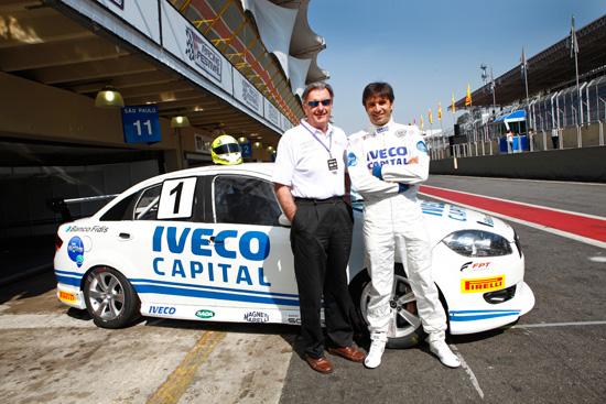 Wilson Fittipaldi e Christian Fittipaldi (pai e filho)