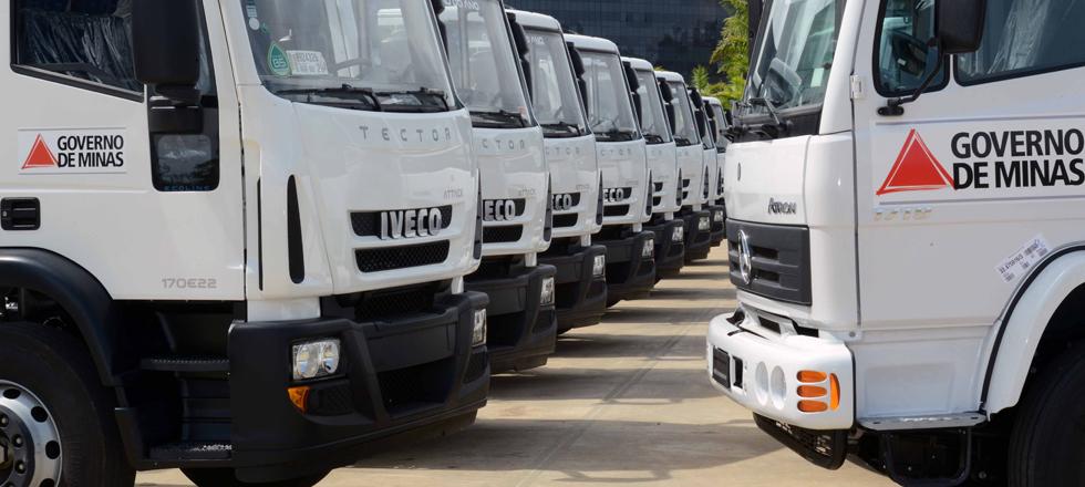 Iveco entrega 247 caminhões ao Governo de Minas Gerais