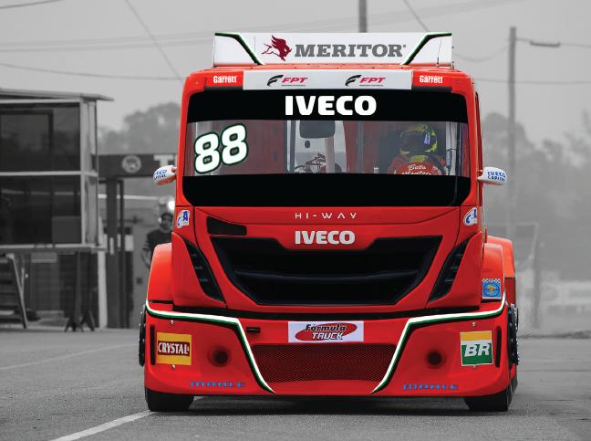 Caminhão Iveco pilotado por Beto Monteiro